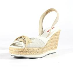 $450 Prada shoes for women White & Natural Wedge Sandals - N