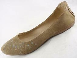 Wallflower Honor Women's Brown Embroidered Slip On Casual Sh