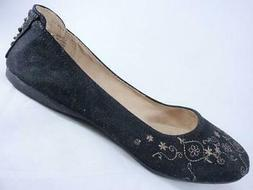 honor women s flats black embroidered slip