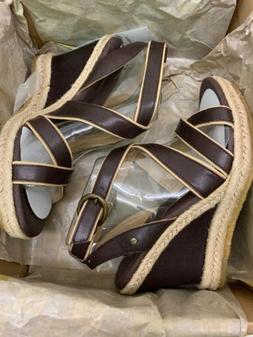 UGG Australia Isabella Womens Leather Wedges Sandals Shoes N