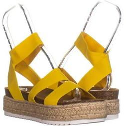 Steve Madden Kimmie Espadrille Wedge Sandals 141, Yellow, 8
