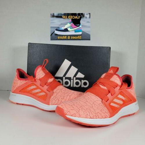 edge lux casual running shoes orange white