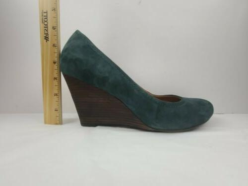 Clarks Suede Leather Wedges Women's 10