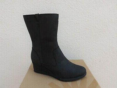 UGG LEATHER/ WEDGE BOOTS, WOMEN US 41