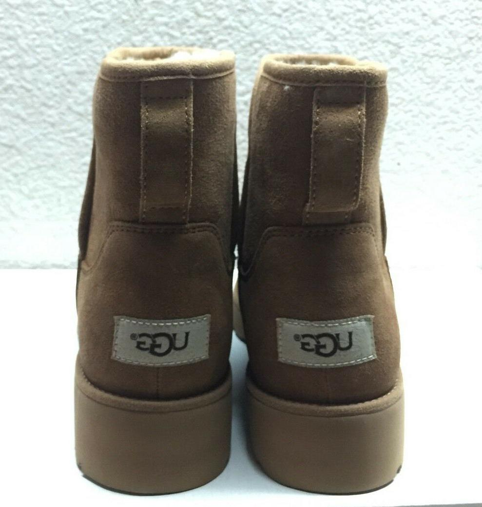UGG KRISTIN SHEARLING SUEDE ANKLE US 8.5 39.5