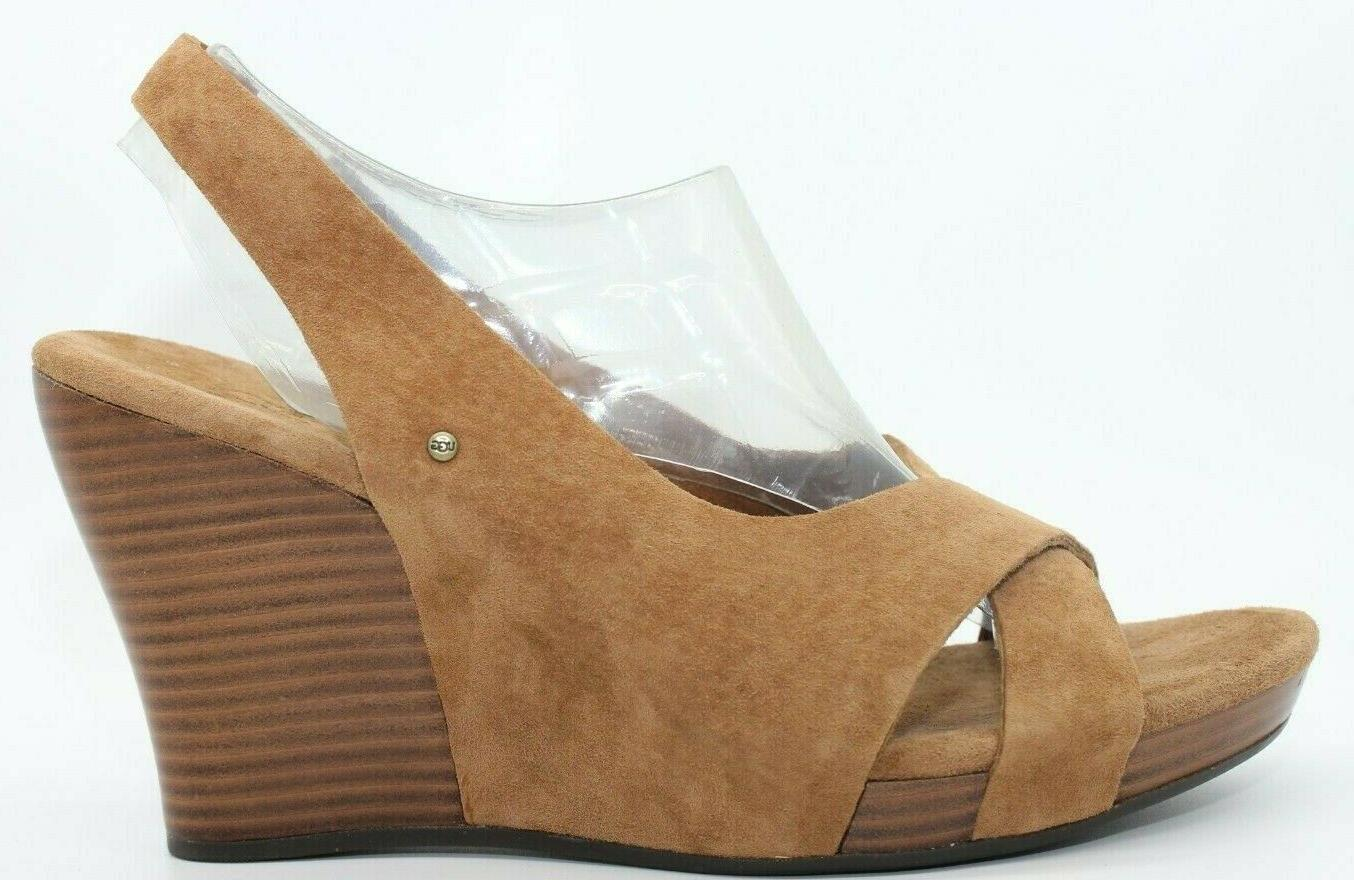 NEW! BROWN SUEDE LEATHER CROSS STRAP 8