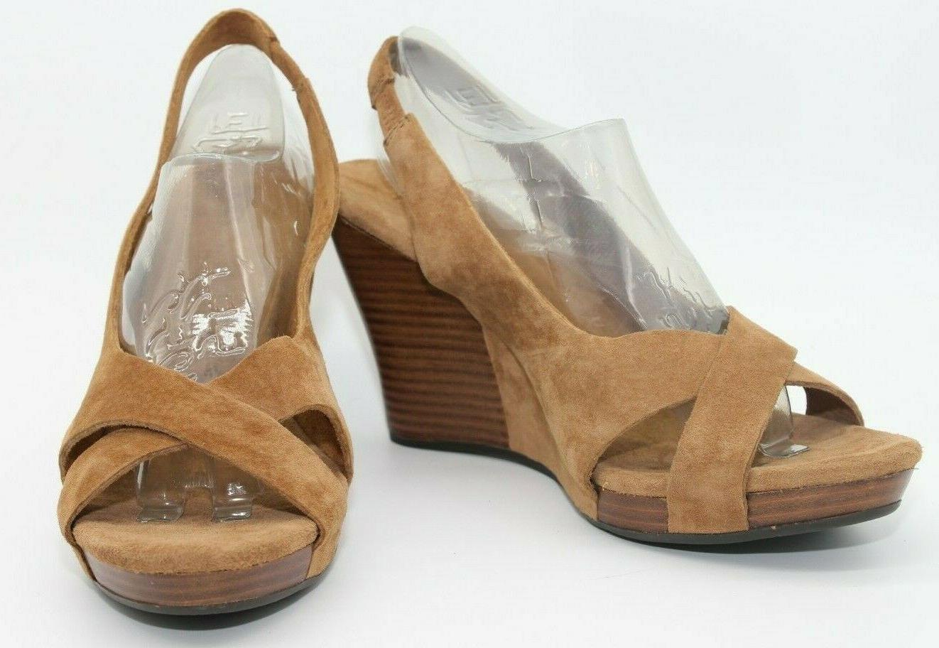 NEW! AUSTRALIA BROWN SUEDE UPPER LEATHER STRAP SIZE 8
