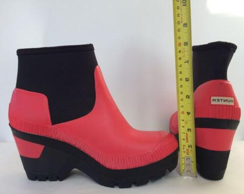 New Hunter Women's Deep Sea Boots Coral US 8