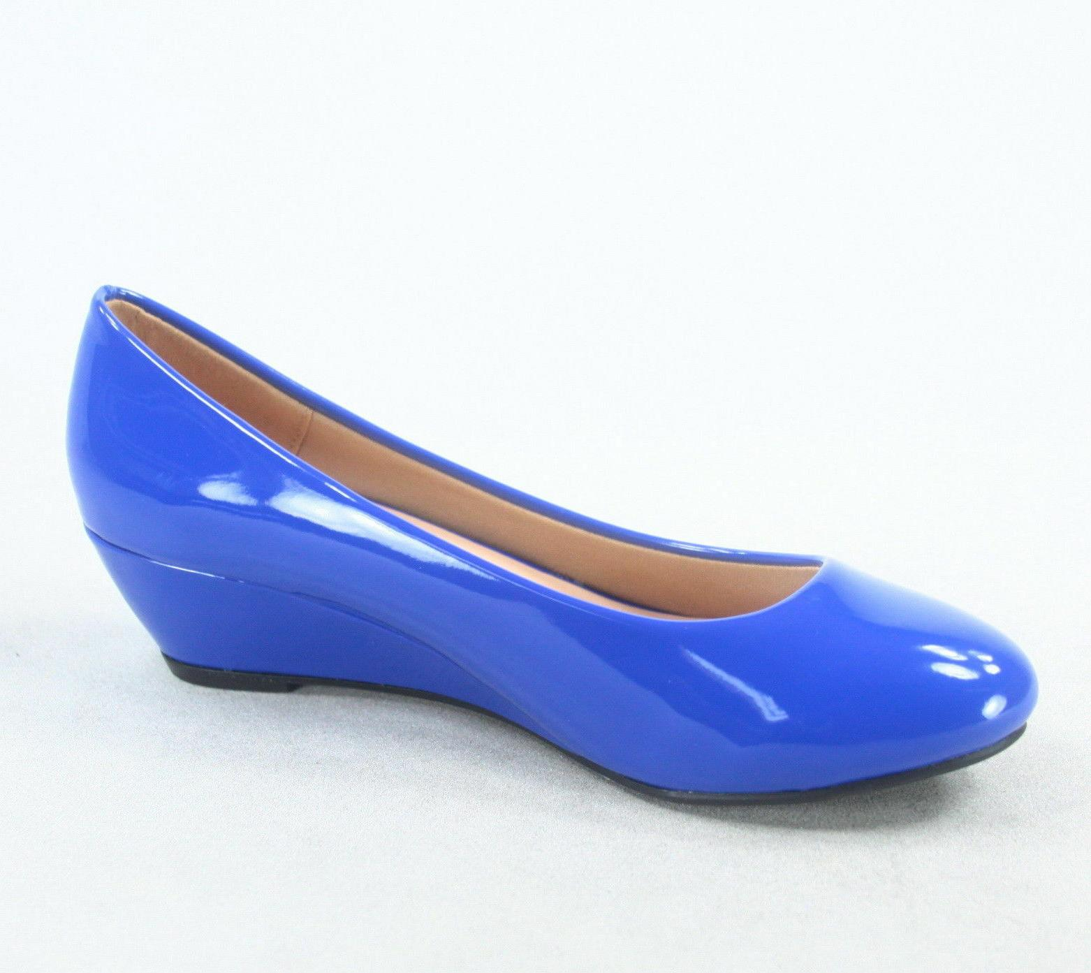 NEW Open Toe Low Wedge Shoes Size -