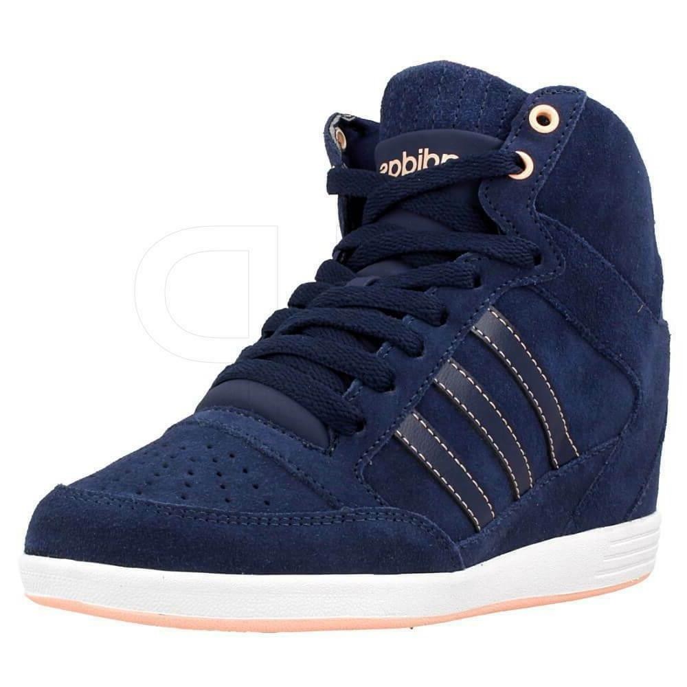 new womens super wedge neo suede sneakers