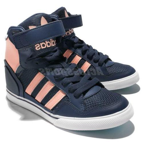 adidas Up W Navy Pink Wedge Shoes Sneaker BY2330