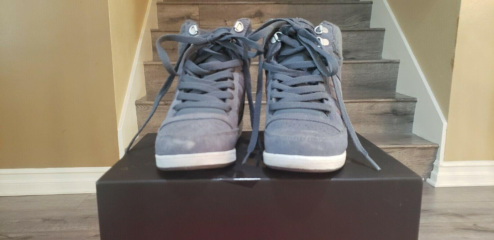 Adidas Wedge Gray Suede w Stitching and 6