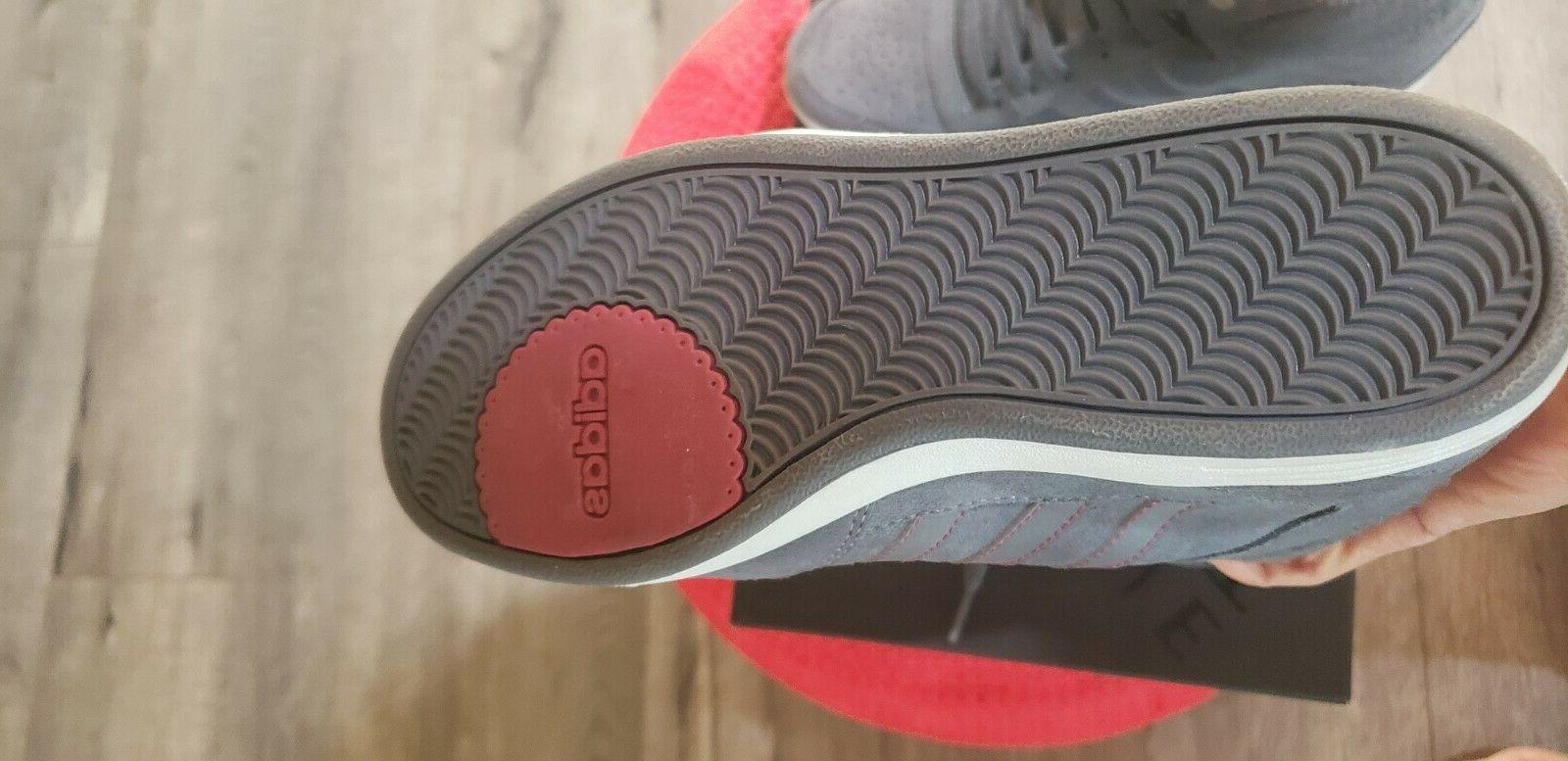 Adidas Gray Suede w Pink Stitching and Lettering Size