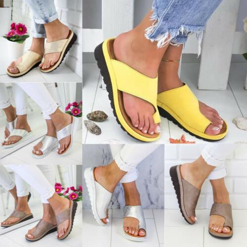 Womens Ladies Orthopedic Sandals Comfy Platform Beach Shoes