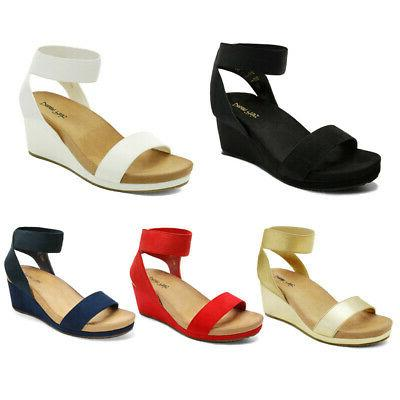 women s elastic ankle strap open toe