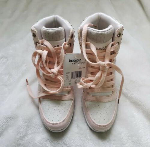 Women's Super Wedge Sneakers Gold Pink