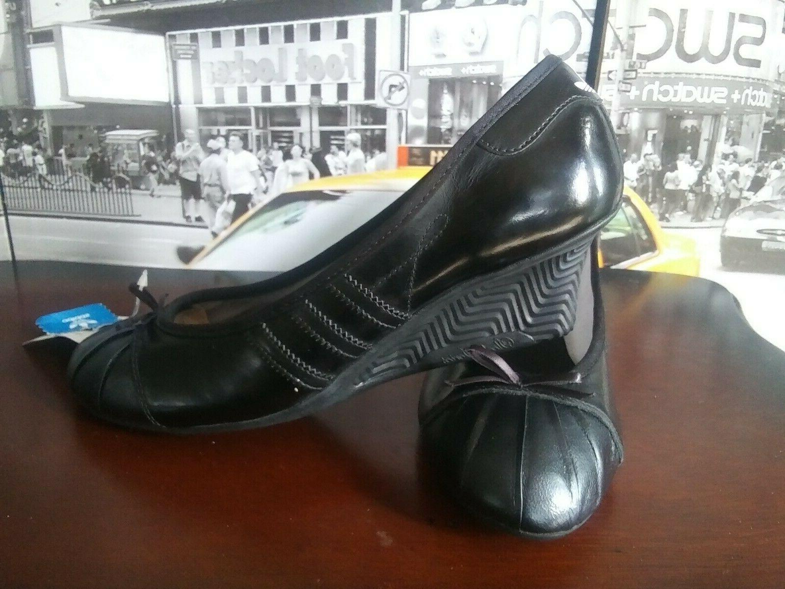 Womens Superstar Heel wedge shoes leather 8 6.5 40
