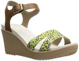 Crocs Women's Leigh II Ankle Strap Graphic Wedge Sandals  -