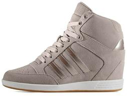 Adidas NEO Super Wedge Suede Women's Khaki Sports Sneakers A