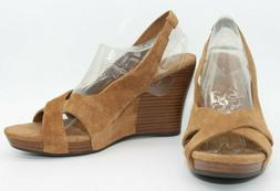 NEW! UGG AUSTRALIA BROWN SUEDE UPPER LEATHER CROSS STRAP WED