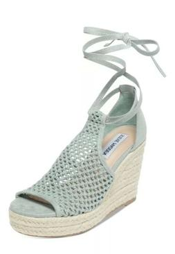 NEW Steve Madden Bambino Fabric Open Toe Casual Sage Suede W