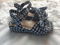 NEW  Old Navy Canvas Bow Tie Mini Wedge Sandals for Toddler