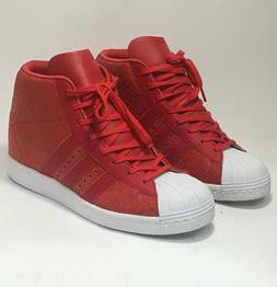 NEW NIB ADIDAS RED REPTILE SUPERSTAR UP SHELL TOE WEDGE TENN