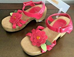 NWT Gymboree Girl Size 12 Flower Clogs Wedge Heel Pretty Pos