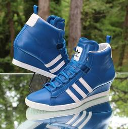 Adidas Originals Round-It Wedge Women's 10 Royal Blue White