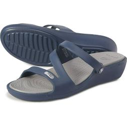 Crocs Patricia Wedge Sandals Color: Navy Women's Size 8 New
