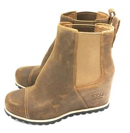 UGG AUSTRALIA Pax Leather Women's Wedge Boot 1095136 - Chipm