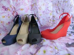 """TAMPA Jelly Wedge Women shoes Jellies Shoes heel 3 """" high by"""