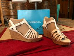Liz Claiborne White Sandal Wedges - Size 11 New Without Tags