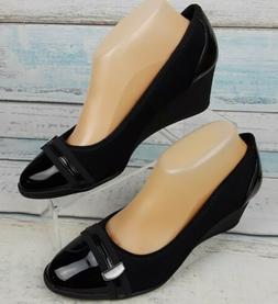 Time and Tru Women's Black Dress Shoes Wedges Size 9