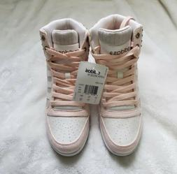 Women's Adidas Neo Super Wedge Suede Sneakers Rose Gold Blus