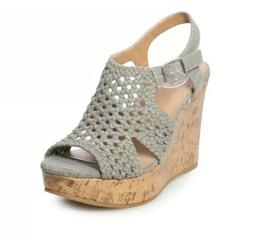 SO® Women's Platform Wedge Sandals Stretchy Straps And Webb