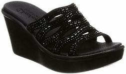 Skechers Women's Rumble Up-Funny Business-High Wedge Rhinest