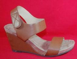 Women's CL LAUNDRY TILLY Brown Wedge Heels Fashion Dress San