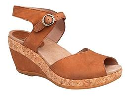 Dansko Womens Charlotte Wedge Sandals, Camel, 39 M EU