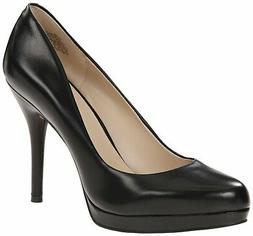 Nine West Womens KRISTAL Closed Toe Platform Pumps, Black Le
