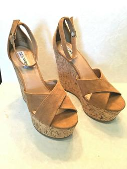 Steve Madden womens new spice textile platform wedges size 9