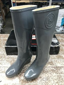 Hunter Womens Original Refined Wedge Size 6 Tall Rain Boots
