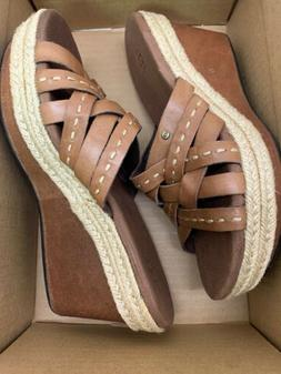 Ugg Womens Shoe Size 5 M Addyson Brown Leather Wedge Platfor